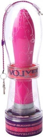 Обтекаемый ярко-розовый массажер silicone seduction, фото 3