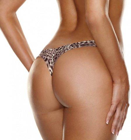 Невидимые трусики стринги леопардовые Hollywood Curves, фото 2