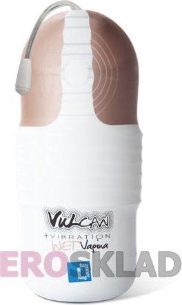 Мини-вагина с вибрацией Vulcan Love Skin Masturbator Wet Vagina + Vibe, фото 3