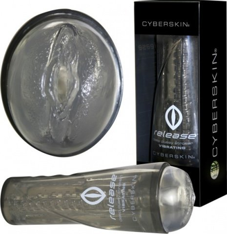 Мастурбатор вагина в тубусе с вибрацией Cyberskin Pussy, фото 2