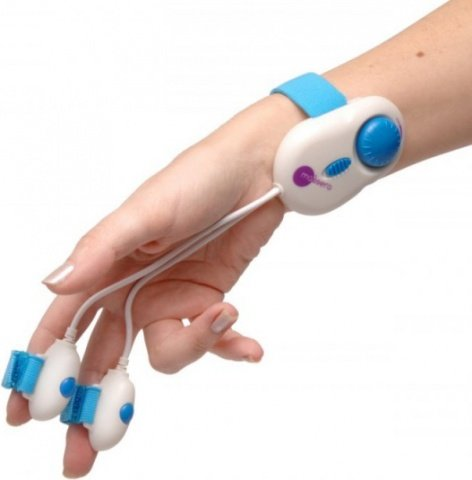Двойной вибратор на руку для массажа dobla, фото 3