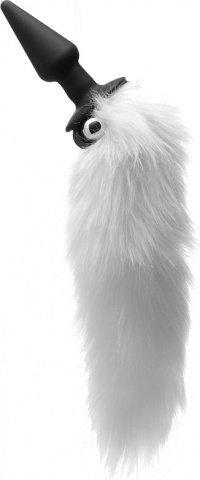 Вибро-плаг с белым пушистым хвостом, фото 2