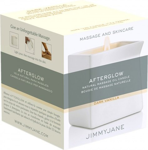 Массажная свеча Jimmyjane Afterglow Massage Candle, цвет Ваниль, фото 2