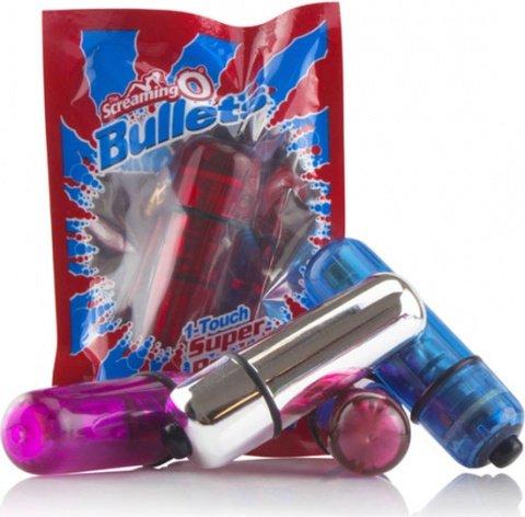 Вибропуля синяя Bullets