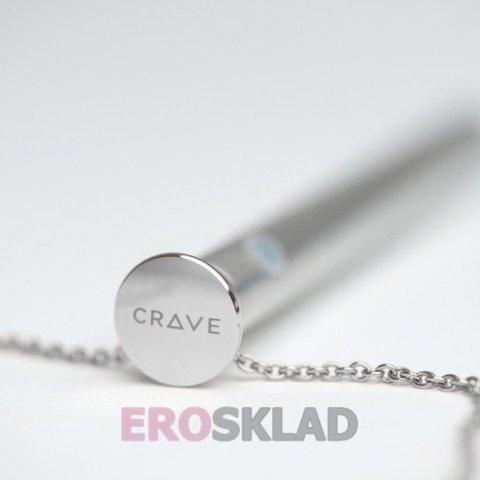 Стильный вибратор для клитора Crave Vesper, цвет Серебряный, фото 3