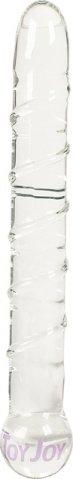 Стеклянный фаллоимитатор glass worxx sparkle scepter clear, 17 см, фото 3