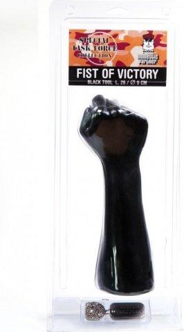 Fist of Victory Black Стимулятор для фистинга, кисть сжатая в кулак 26 см