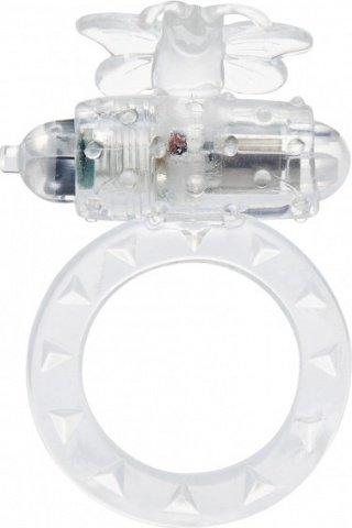 Виброкольцо на пенис Flutter-Ring Clear 9346TJ, фото 2