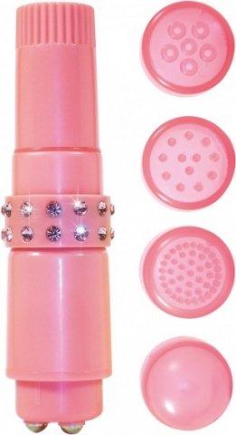 Вибромассажер со сменными насадками Diamond Couture Pocket Rocket, фото 3