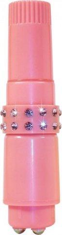 Вибромассажер со сменными насадками Diamond Couture Pocket Rocket, фото 5