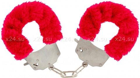 ��������� � ����� Furry Fun Cuffs Red 9504TJ