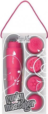 Виброракета funky massager pink 9800tj, фото 3
