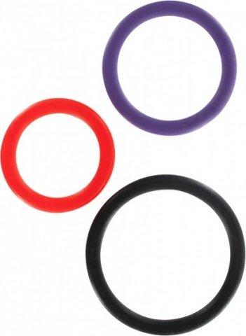 Набор из трех разноцветных колец Triple Rings Multicolor, фото 2