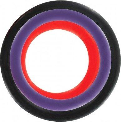 Набор из трех разноцветных колец Triple Rings Multicolor, фото 3