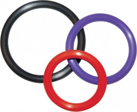 Набор из трех разноцветных колец Triple Rings Multicolor, фото 4