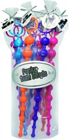 Набор из десяти анальных цепочек Funky Bum Beads 9878TJ, фото 2