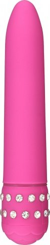 Классический вибратор со стразами Diamond Pink Superbe