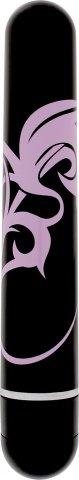 Мини-вибратор Lovers Ink Tattoo, с рисунком, черный с розовым, 25 х150 мм