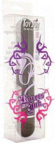 Мини-вибратор Lovers Ink Tattoo, с рисунком, черный с розовым, 25 х150 мм, фото 2