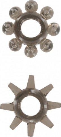 Набор эрекционных колец Power Stretchy Rings - Toy Joy (2 шт), цвет Черный