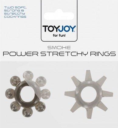 Набор эрекционных колец Power Stretchy Rings - Toy Joy (2 шт), цвет Черный, фото 2