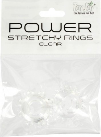 Power stretchy rings clear 2pcs 9937tj, фото 3