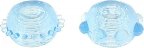 Набор эрекционных колец Power Stretchy Rings - Toy Joy (2 шт), цвет Голубой, фото 2
