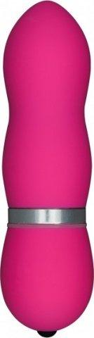 Мини-вибратор Funky Vibelicious, рельефный, розовый, 25 х110 мм 11 см