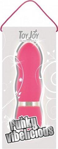Мини-вибратор Funky Vibelicious, рельефный, розовый, 25 х110 мм 11 см, фото 3