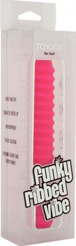 Вибратор, ребристый, силикон, розовый, 20 х150 мм 15 см, фото 2