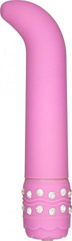 Вибратор для точки G Crystal G Spot Vibe, цвет Розовый 11 см