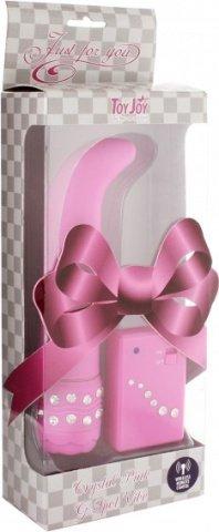 Вибратор для точки G Crystal G Spot Vibe, цвет Розовый 11 см, фото 4