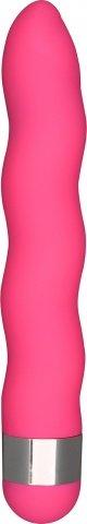 Розовый волнистый вибратор Funky Wave - 19 см