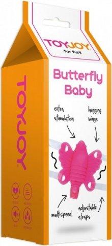 Клиторальный стимулятор Butterfly Baby Hot Pink 10131TJ, фото 3