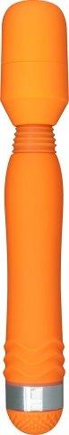 Вибратор Funky Wand Massager, силикон, оранжевый, 30 х200 мм 20 см