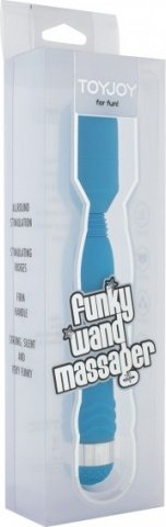 Вибратор Funky Wand Massager, силикон, голубой, 30 х200 мм 20 см, фото 2