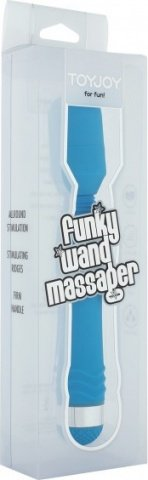 Вибратор Funky Wand Massager, силикон, голубой, 30 х200 мм 20 см, фото 2