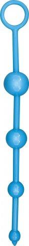 Анальная цепочка Funky Butt Beads, голубая, 30 х280 мм
