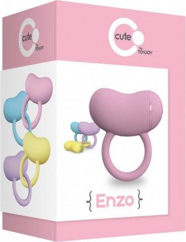 Виброкольцо на пенис enzo couples ring pink, фото 2