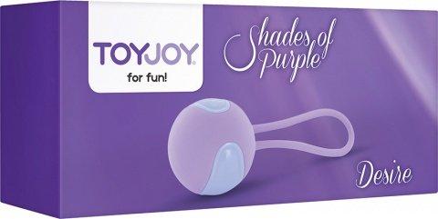 Вагинальный шарик desire kegel ball purple, фото 2