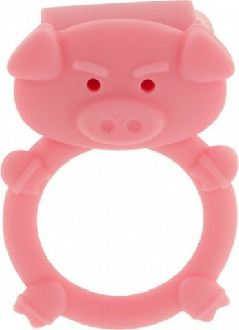 Кольцо на пенис с вибрацией mad piggy c-ring pink, фото 2