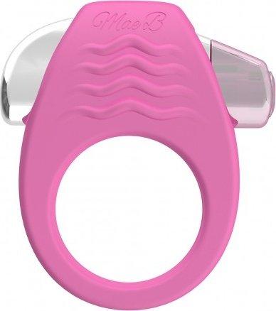 Эрекционное кольцо с вибрацией stylish soft touch c-ring pink