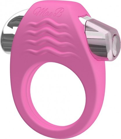 Эрекционное кольцо с вибрацией stylish soft touch c-ring pink, фото 2