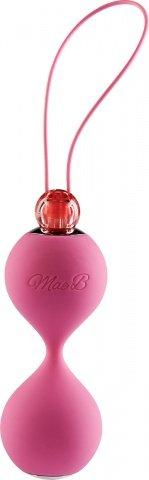 Вагинальные шарики soft touch vibr love balls pink