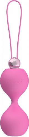 Вагинальные шарики soft touch vibr love balls pink, фото 3