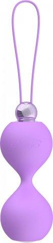 Вагинальные шарики soft touch vibr love balls purple, фото 3
