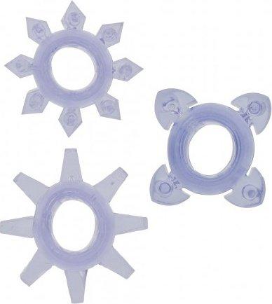 Комплект колец на пенис tickle c-rings purple