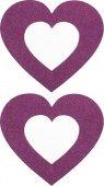 Пестисы сердечко фиолетовые 003 | Накладки на грудь | Интернет секс шоп Мир Оргазма