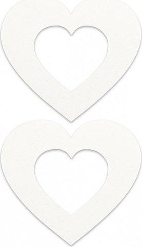 Пестисы сердечко белые sh-ouns003wht