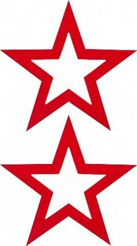 Пестисы открытые звезды красные sh-ouns012red